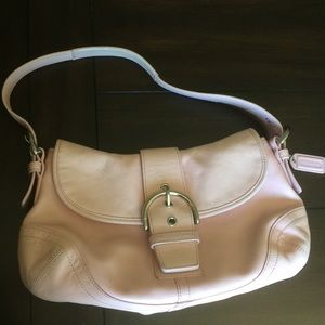 Coach Soho pink leather hobo handbag